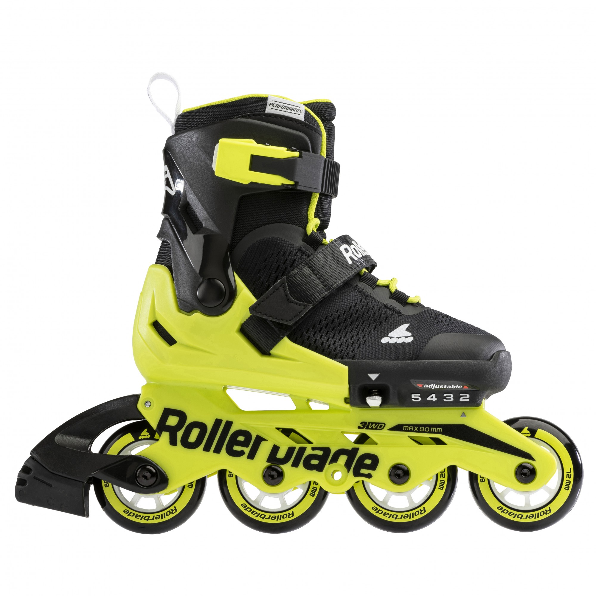 ROLKI ROLLERBLADE MICROBLADE 2021 BLACK NEON YELLOW - ROLKI JUNIORSKIE REGULOWANE