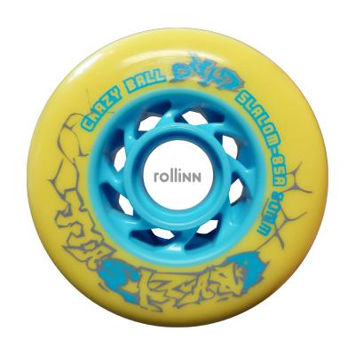 KOŁA GYRO CRAZY BALL SLALOM YELLOW 80MM / 85A